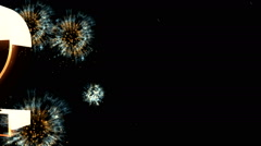 New year 2015 animation with ambient fireworks sound 9 Stock Footage