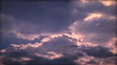 Clouds Time Lapse  old style  super 8   film  Stock Footage