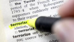 Terrorism Concept Key Word - stock footage