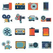 Stock Illustration of Photo Video Icons Set