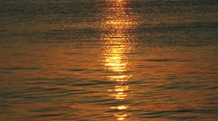 Sunlight Reflection on the Sea Water Stock Footage