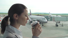 Waiting for a Flight Stock Footage