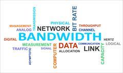 word cloud - bandwidth - stock illustration