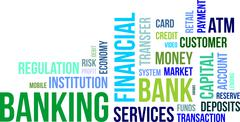 Word cloud - banking Stock Illustration