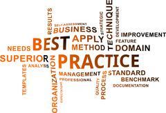 word cloud - best practice - stock illustration