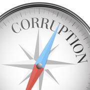 compass corruption - stock illustration