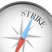 Compass strike Stock Illustration