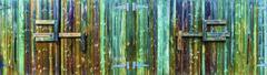 Wooden Enclosure Gates - stock photo