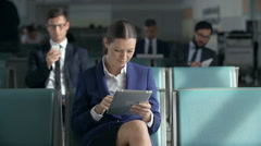 Passengers Waiting Stock Footage