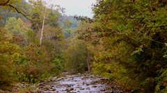Autumn mountain stream rocks 1 Stock Footage