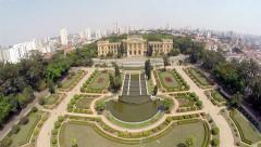 Aerial View from Ipiranga Museum in Sao Paulo, Brazil, Latin America Stock Footage