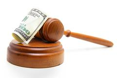gavel cash - stock photo