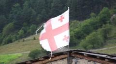 Georgian flag Stock Footage