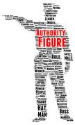 authority figure word cloud shape - stock illustration