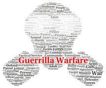 Guerrilla warfare word cloud shape Stock Illustration