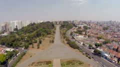 Aerial View from Ipiranga Museum in Sao Paulo, Brazil, Latin America Stock Footage