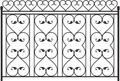 Stock Illustration of wrought iron gate, door, fence, window, grill, railing design
