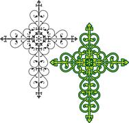 christian cross design - stock illustration