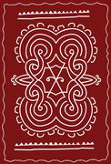 Folk, tribal design, motif, wall painting Stock Illustration