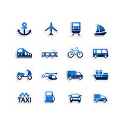 Transport icons - stock illustration