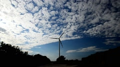 Windmill  and sky in timelapse Stock Footage