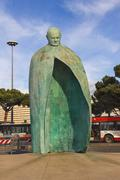 Statue of pope john paul ii in a park near the termini  station in rome, ital Stock Photos