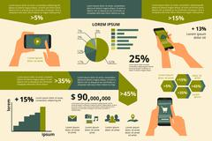 Infographic visualization of usability smartphone Stock Illustration