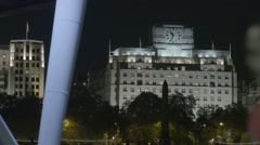 Shell Mex House at night Stock Footage
