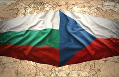 czech republic and bulgaria - stock illustration