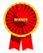 Winners rosette Stock Illustration