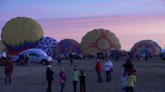 ABQ Balloon Fiesta tourist pose sunrise event 4K 004 Stock Footage