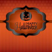 Jack o' lantern label halloween card in vector format. Stock Illustration