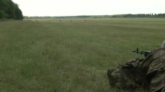 NATO Allies Secure An Airfield in Poland - stock footage