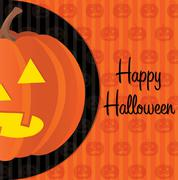 Jack o lantern happy halloween card in vector format. Stock Illustration
