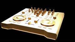 Gold DJ Console workstation Stock Footage