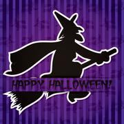 'happy halloween' sticker card in vector format. Stock Illustration