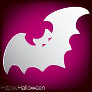 bat concave halloween card in vector format. - stock illustration