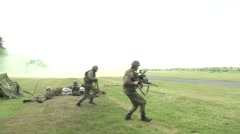 NATO Allies Secure An Airfield in Poland Stock Footage