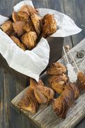 cookies with cinnamon. - stock photo