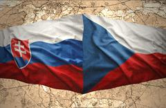 Slovakia and czech republic Stock Illustration