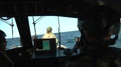 Navy Coastal Riverine patrol boat operations Stock Footage