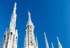 Stock Photo of milan dome: the most important landmark of the expo 2015 city.