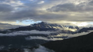 Stock Video Footage of Himalaya mountain time lapse cloudscape