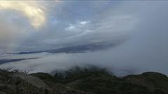 Himalaya mountain time lapse cloudscape - stock footage