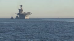 USS America Returns from Acceptance Trials - stock footage