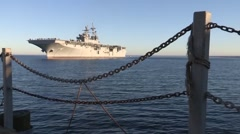 USS America Returns from Acceptance Trials Stock Footage