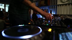 Dj playing music - III Stock Footage