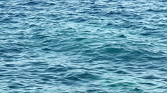 Vintage shot of rippled sea. Stock Footage