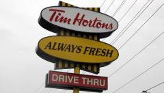 Tim Hortons Sign Stock Footage