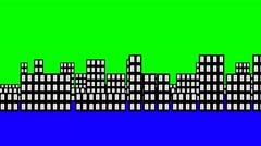 Cartoon City Stock Footage